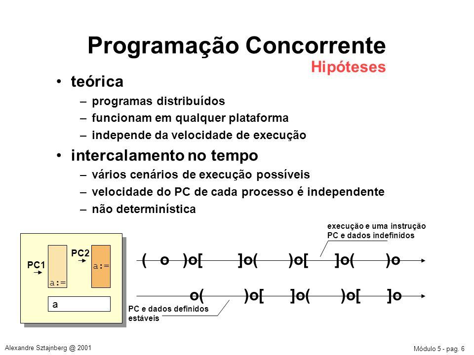 Programação Concorrente Hipóteses