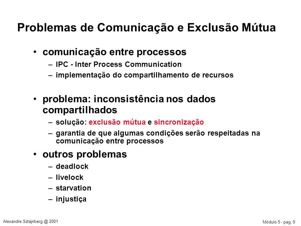 Problemas de Comunicação e Exclusão Mútua