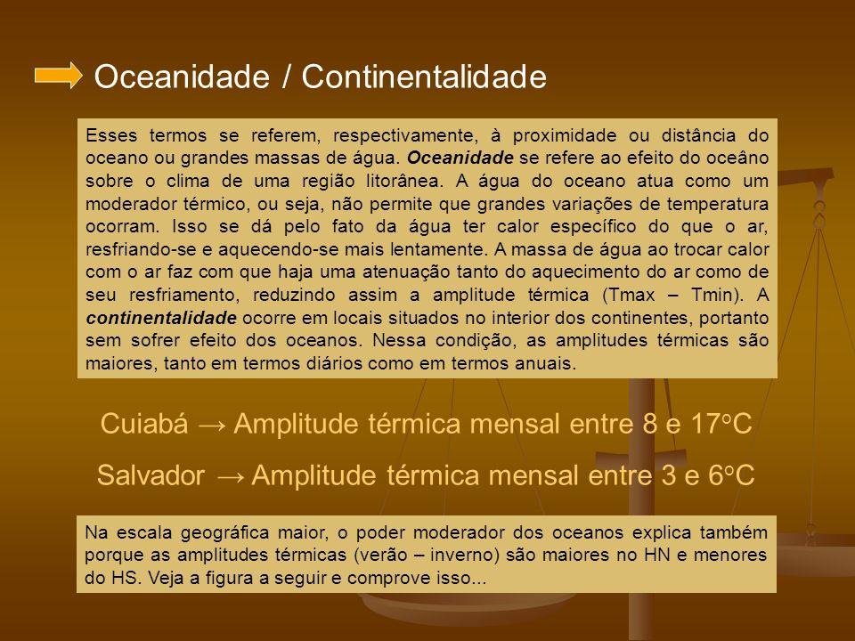 Oceanidade / Continentalidade