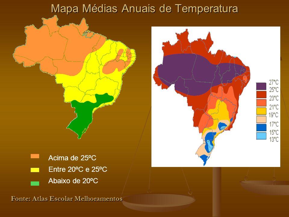 Mapa Médias Anuais de Temperatura