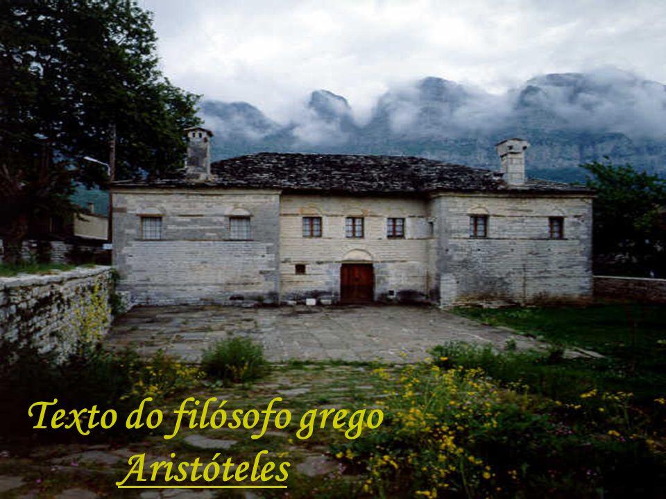 Texto do filósofo grego Aristóteles