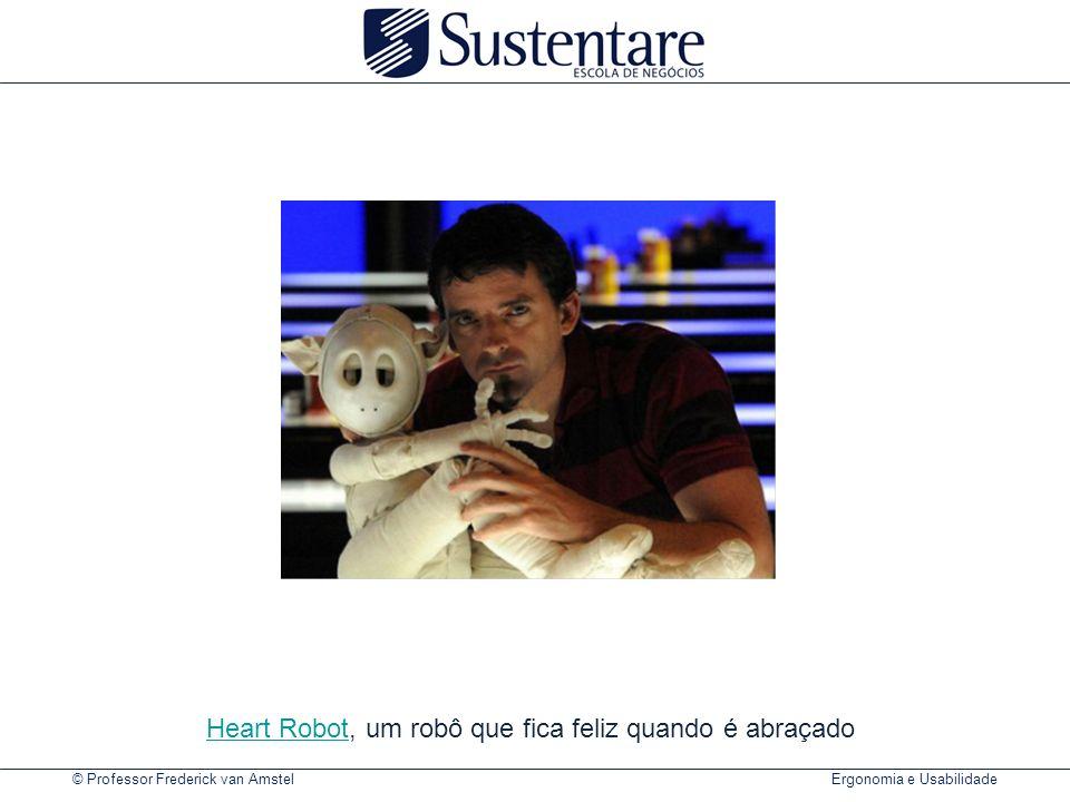Heart Robot, um robô que fica feliz quando é abraçado