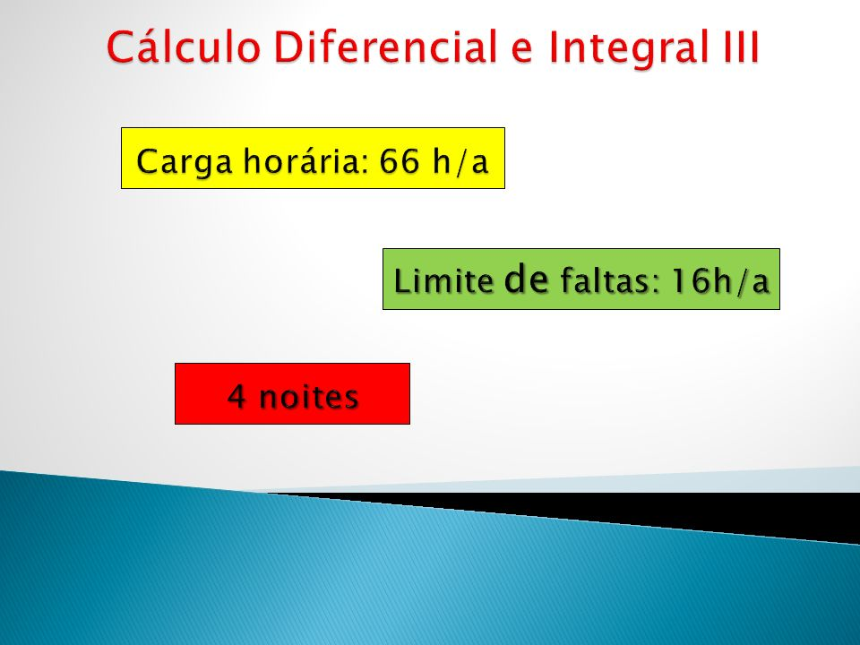 Cálculo Diferencial e Integral III