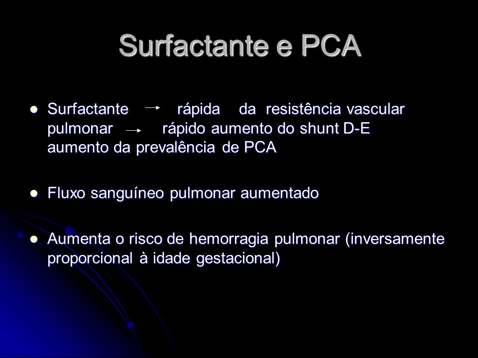 Surfactante e PCA
