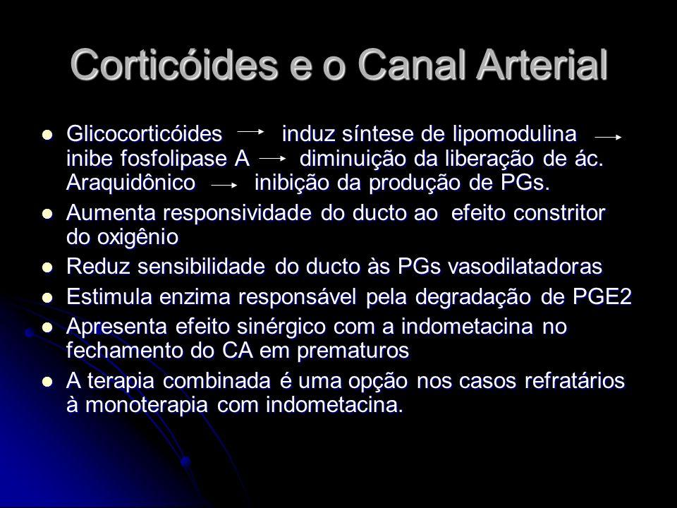 Corticóides e o Canal Arterial