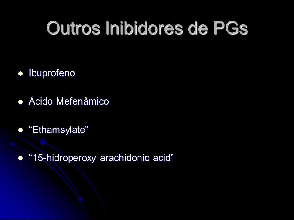 Outros Inibidores de PGs