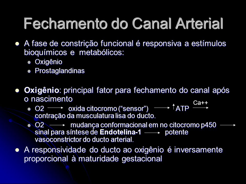 Fechamento do Canal Arterial