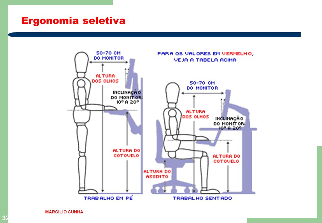 Ergonomia seletiva MARCILIO CUNHA