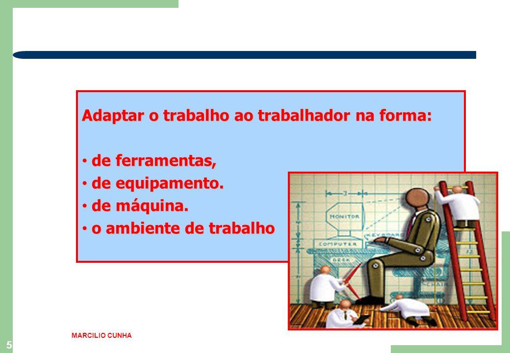 Adaptar o trabalho ao trabalhador na forma: de ferramentas,