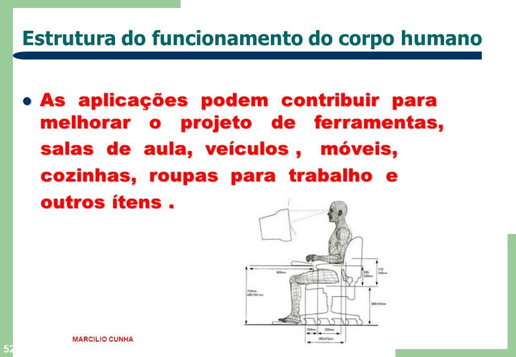 Estrutura do funcionamento do corpo humano