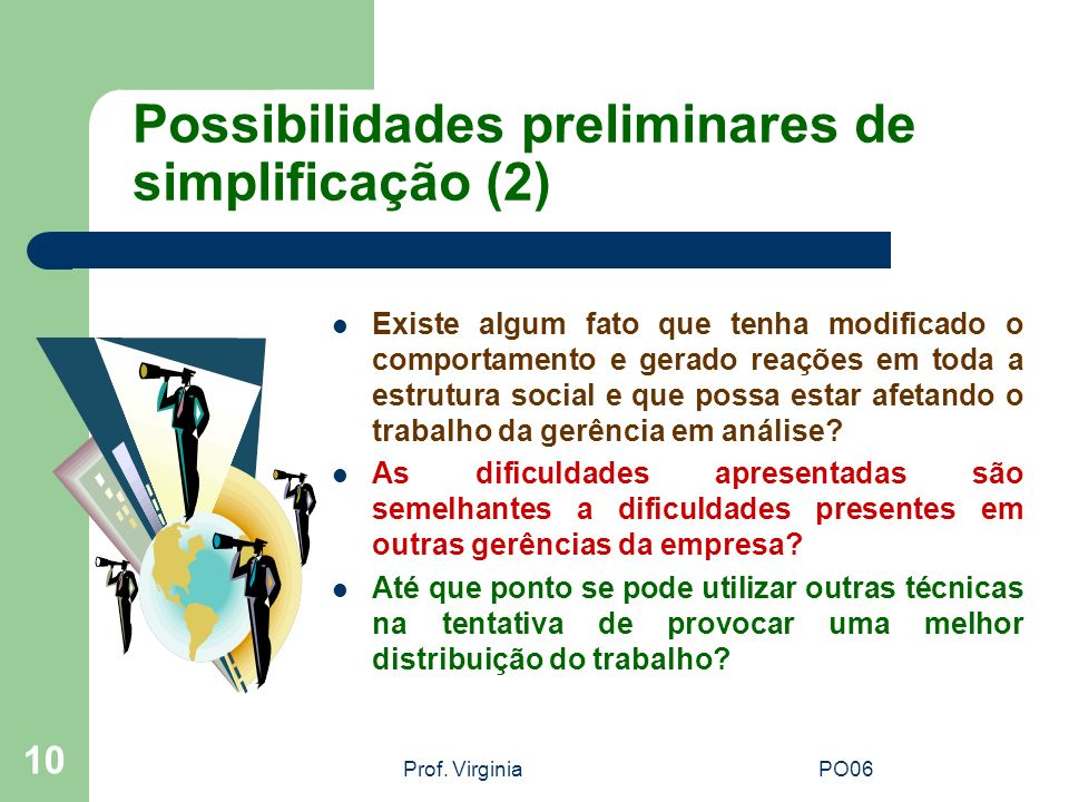 Possibilidades preliminares de simplificação (2)