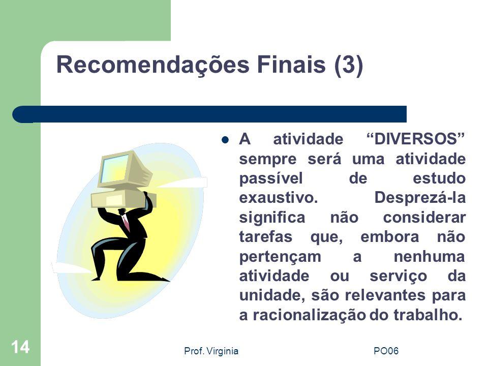 Recomendações Finais (3)