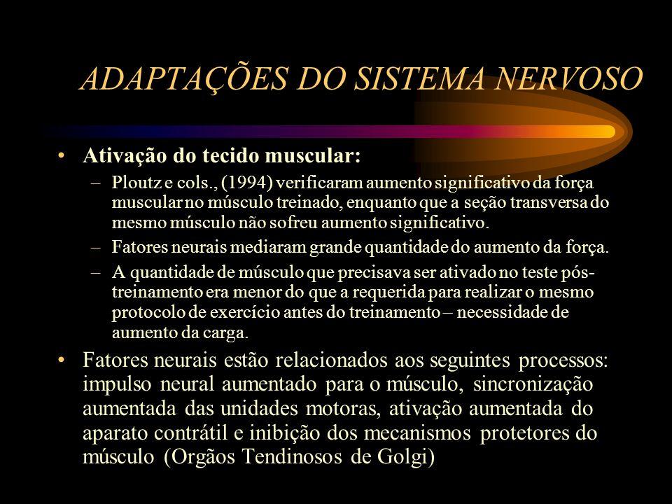 ADAPTAÇÕES DO SISTEMA NERVOSO