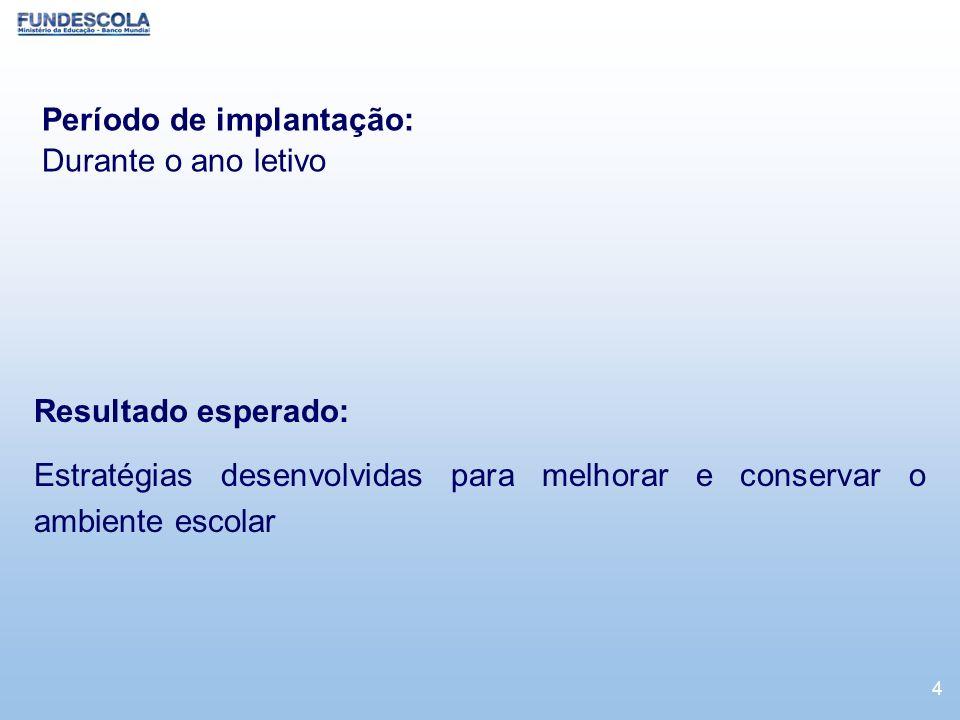 Período de implantação: