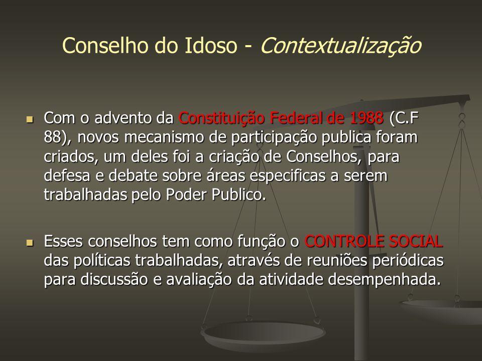 Conselho do Idoso - Contextualização