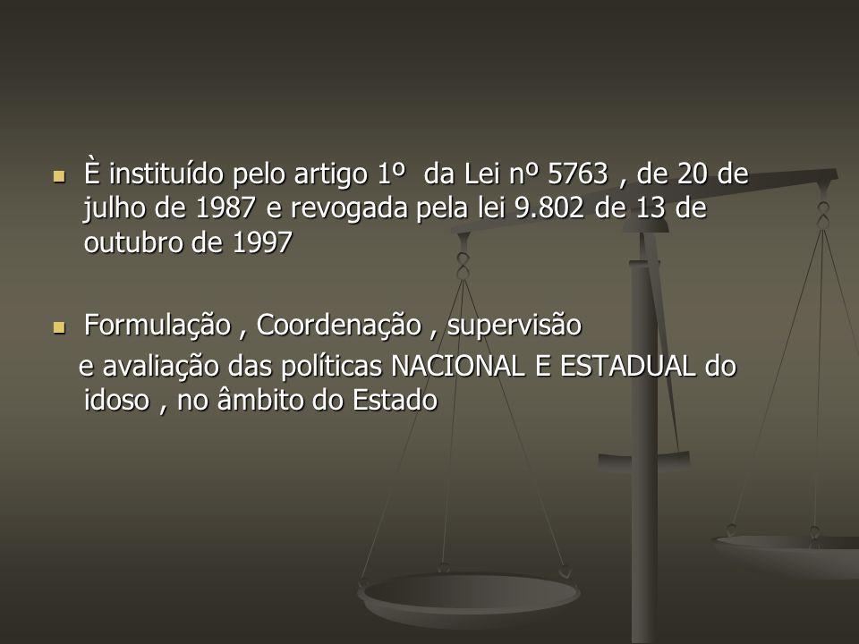 È instituído pelo artigo 1º da Lei nº 5763 , de 20 de julho de 1987 e revogada pela lei 9.802 de 13 de outubro de 1997
