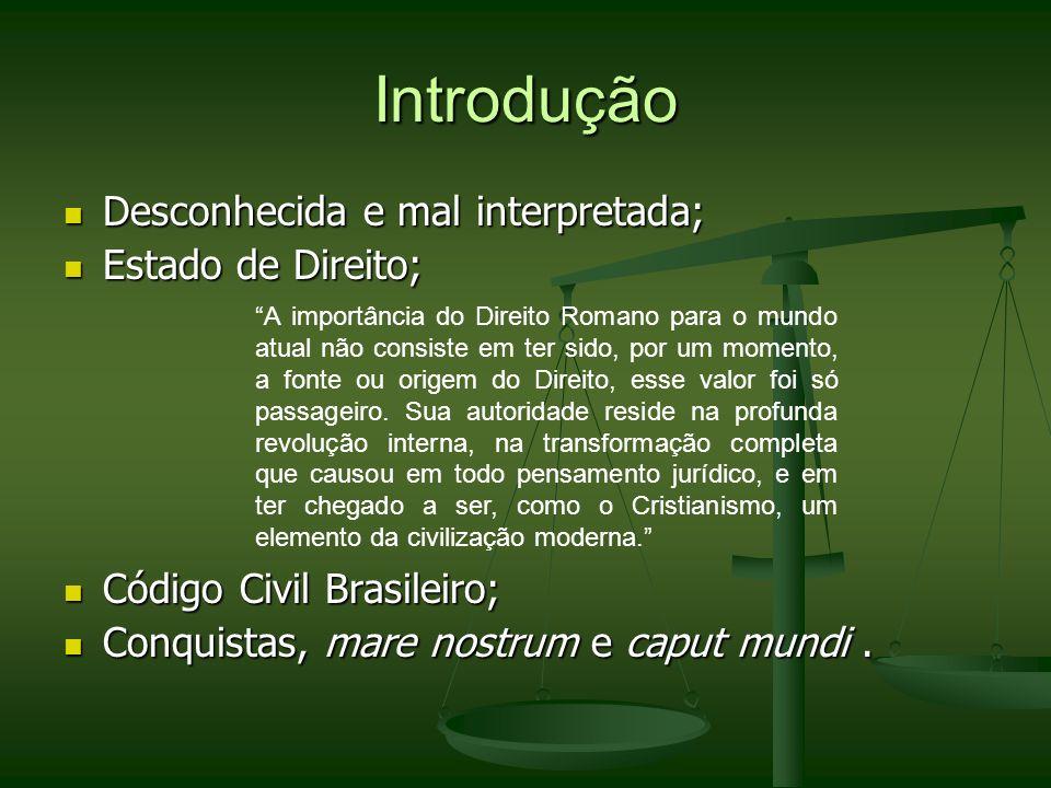 Introdução Desconhecida e mal interpretada; Estado de Direito;
