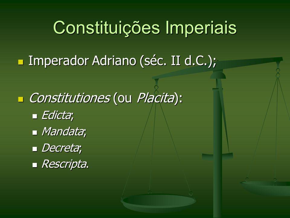 Constituições Imperiais