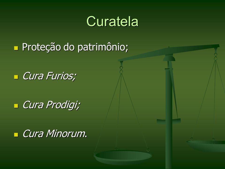 Curatela Proteção do patrimônio; Cura Furios; Cura Prodigi;