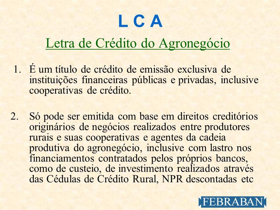 Letra de Crédito do Agronegócio
