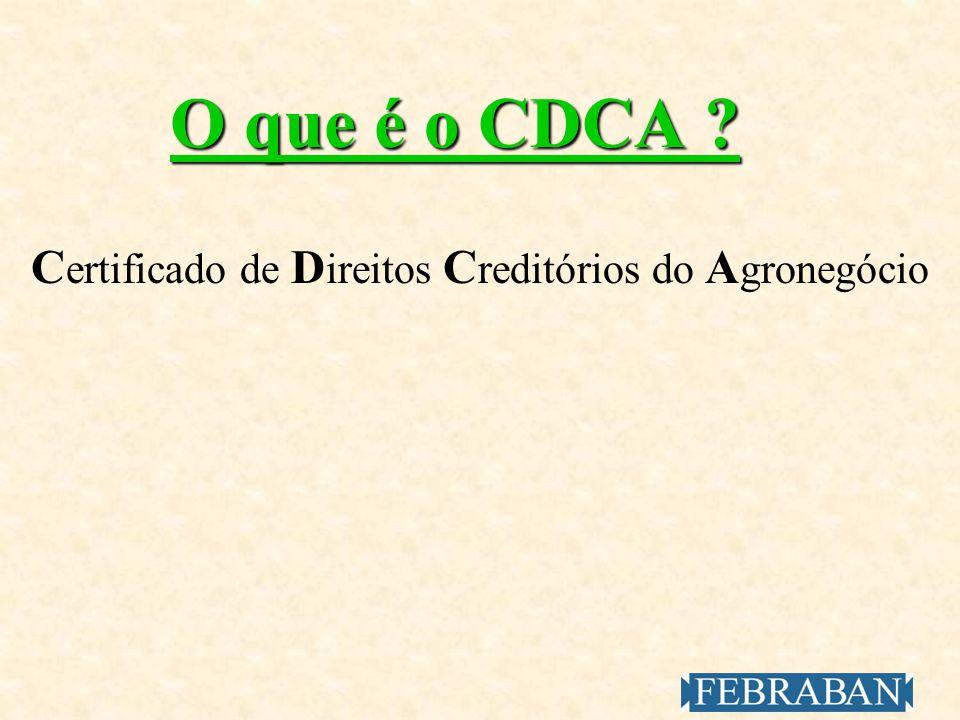 Certificado de Direitos Creditórios do Agronegócio
