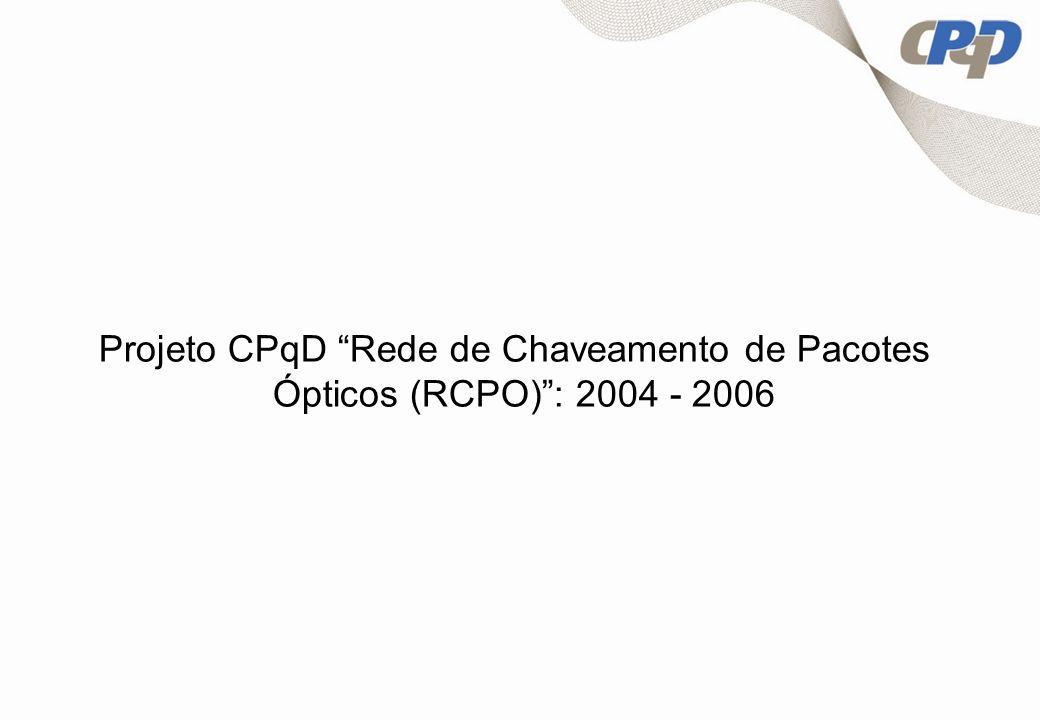 Projeto CPqD Rede de Chaveamento de Pacotes Ópticos (RCPO) : 2004 - 2006