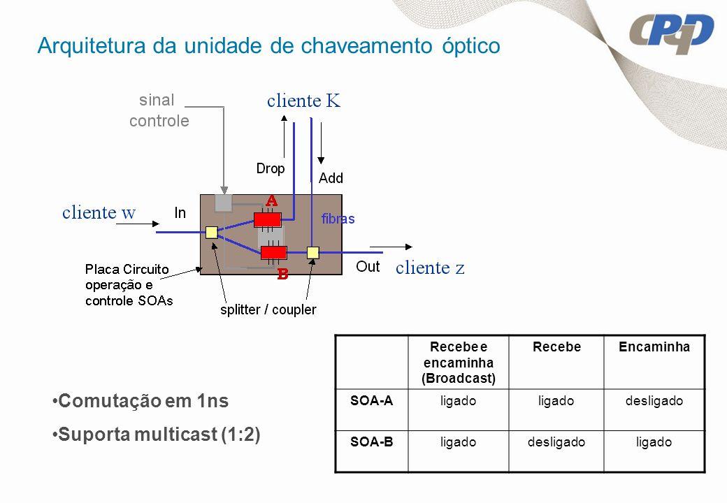 Arquitetura da unidade de chaveamento óptico