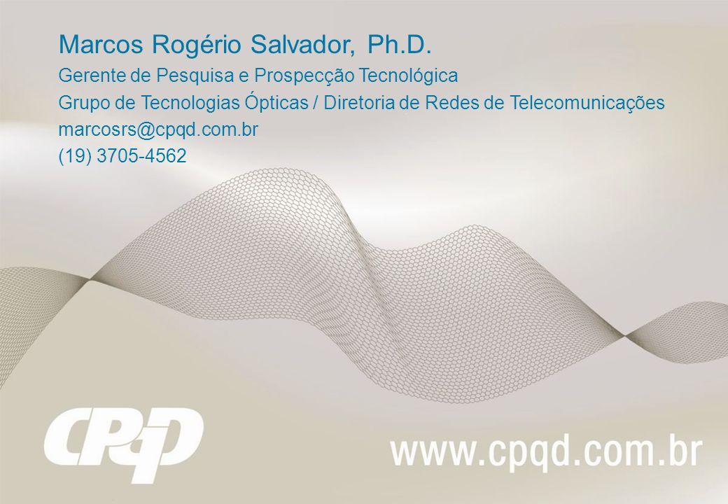 Marcos Rogério Salvador, Ph.D.
