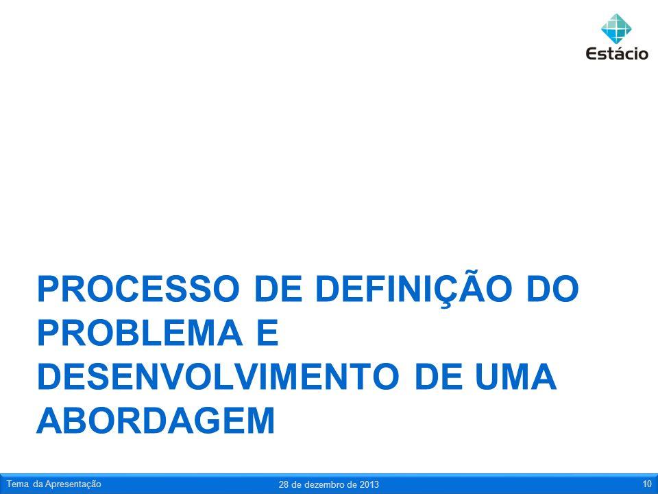 PROCESSO DE DEFINIÇÃO DO PROBLEMA E DESENVOLVIMENTO DE UMA ABORDAGEM