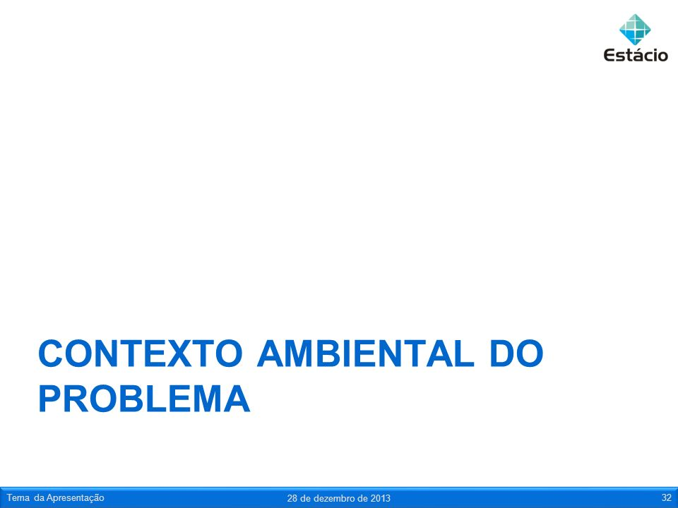 Contexto ambiental do problema