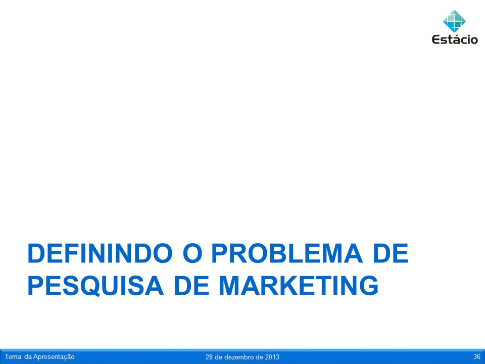 Definindo o problema de pesquisa de marketing