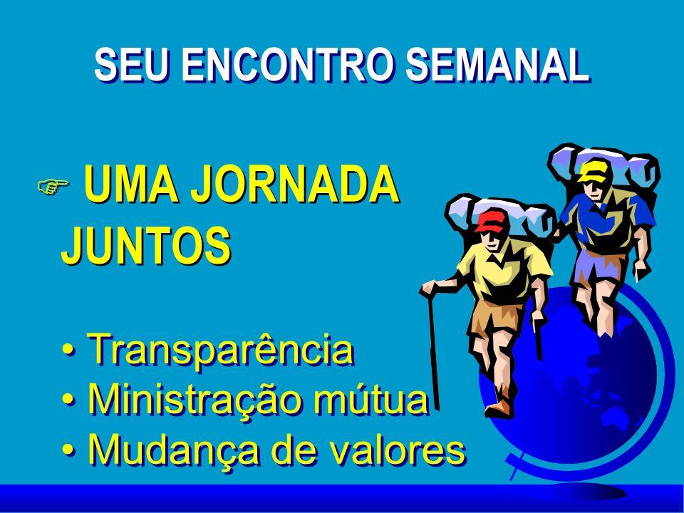 UMA JORNADA JUNTOS SEU ENCONTRO SEMANAL Transparência