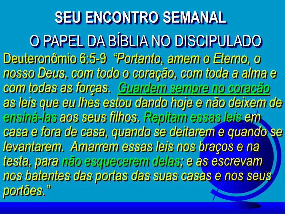 O PAPEL DA BÍBLIA NO DISCIPULADO