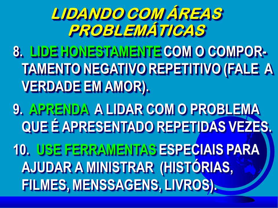 LIDANDO COM ÁREAS PROBLEMÁTICAS