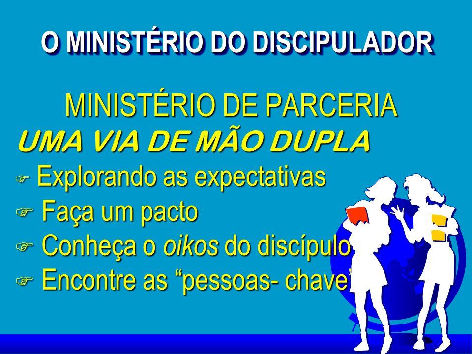 O MINISTÉRIO DO DISCIPULADOR