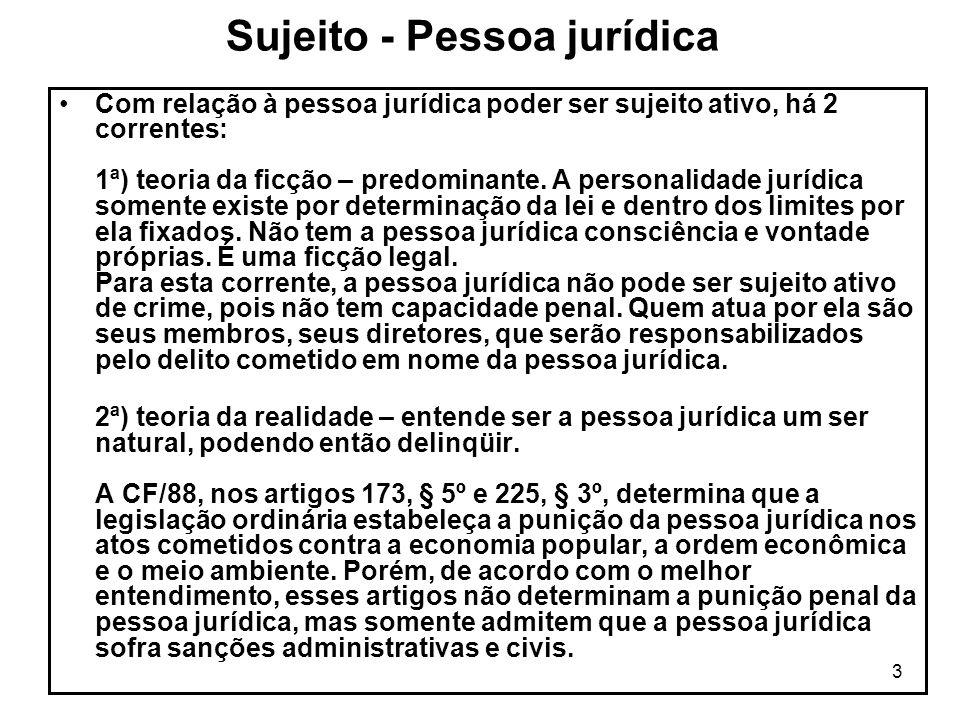 Sujeito - Pessoa jurídica