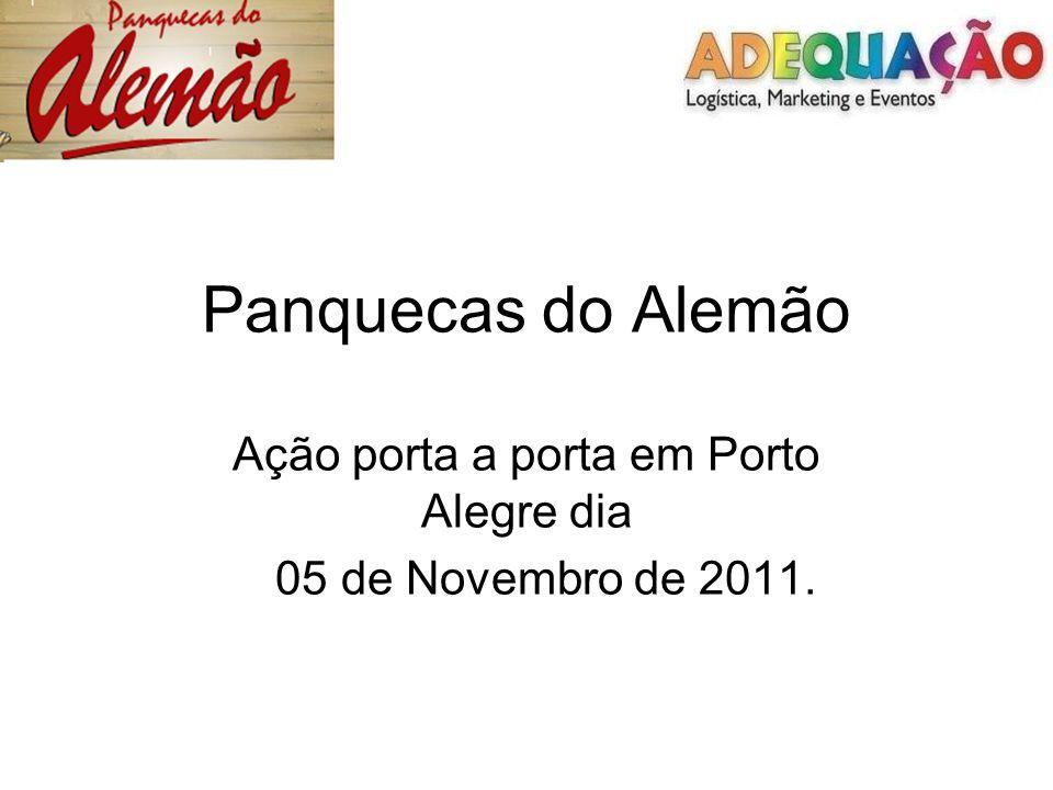 Ação porta a porta em Porto Alegre dia 05 de Novembro de 2011.