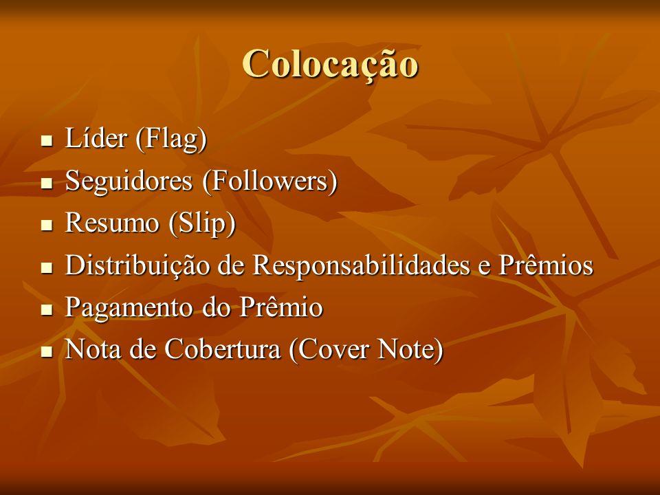 Colocação Líder (Flag) Seguidores (Followers) Resumo (Slip)