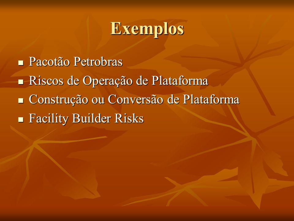Exemplos Pacotão Petrobras Riscos de Operação de Plataforma