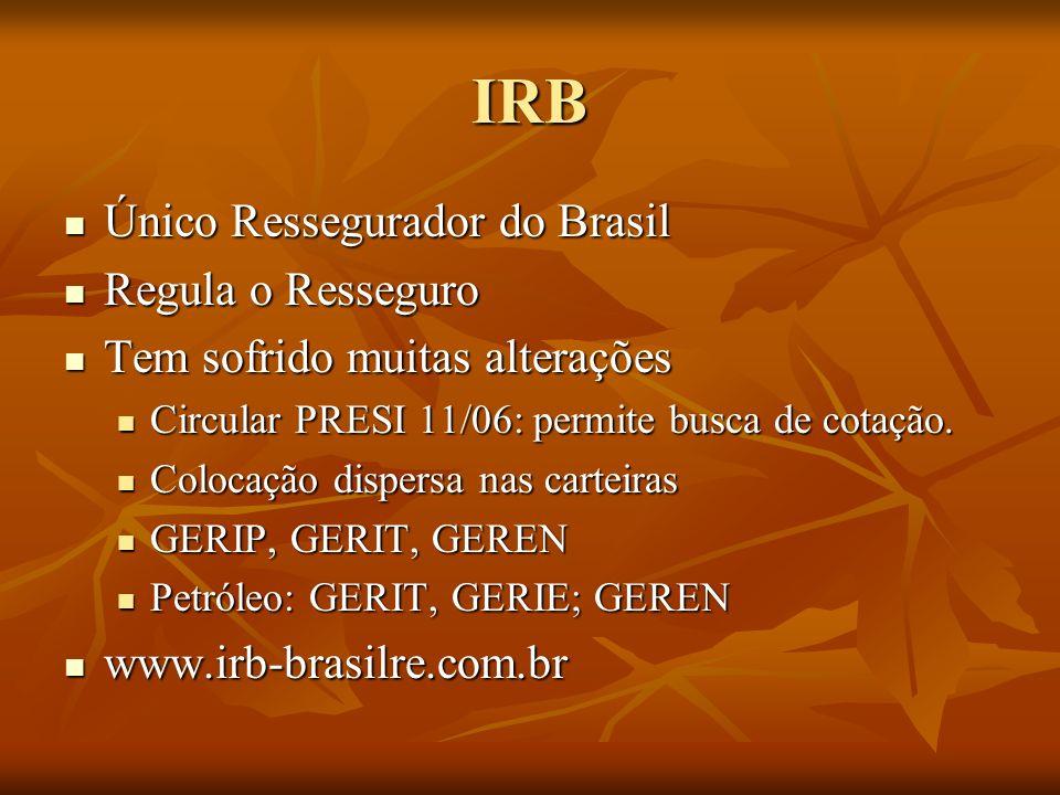 IRB Único Ressegurador do Brasil Regula o Resseguro