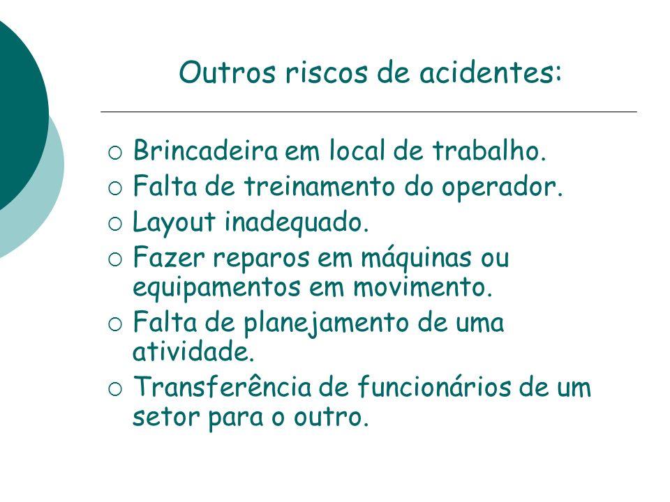 Outros riscos de acidentes: