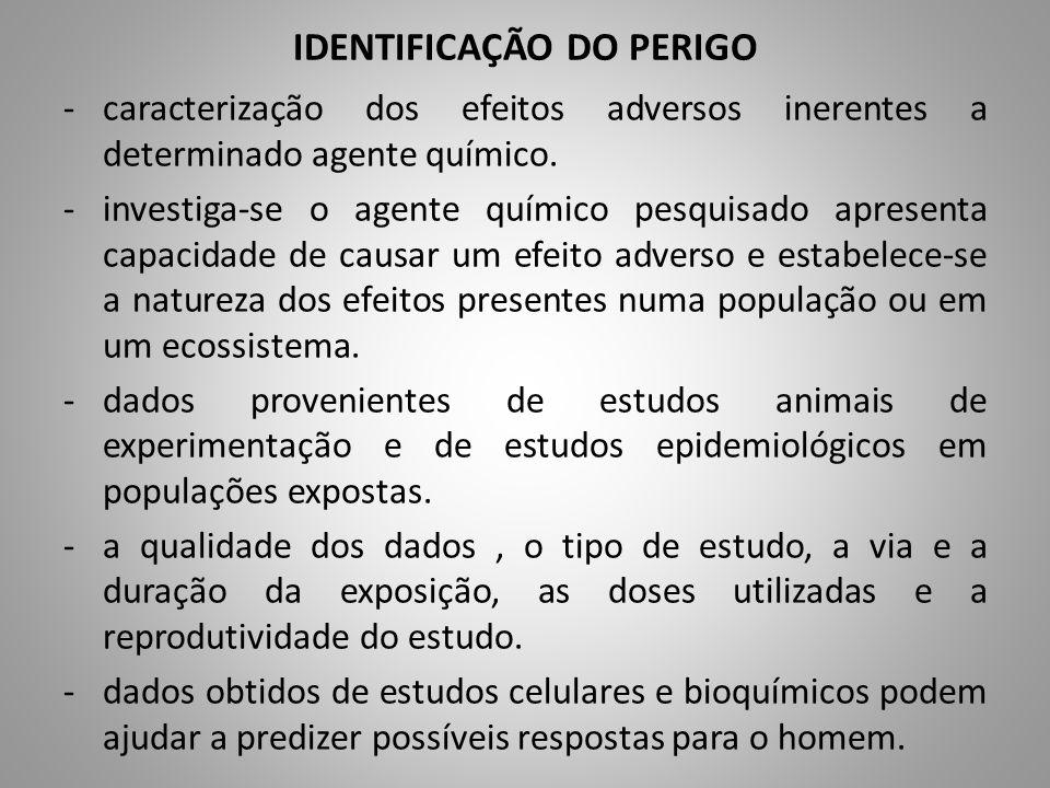 IDENTIFICAÇÃO DO PERIGO