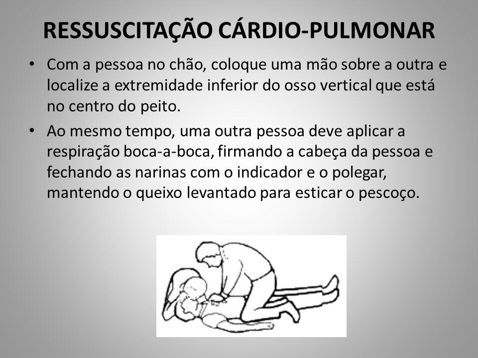RESSUSCITAÇÃO CÁRDIO-PULMONAR