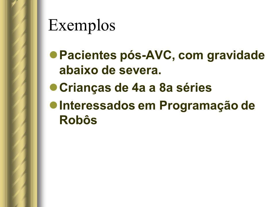 Exemplos Pacientes pós-AVC, com gravidade abaixo de severa.