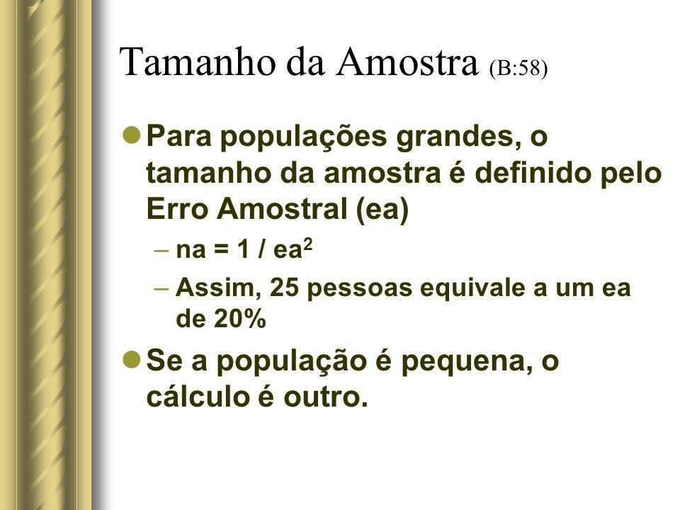 Tamanho da Amostra (B:58)