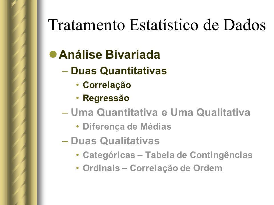 Tratamento Estatístico de Dados