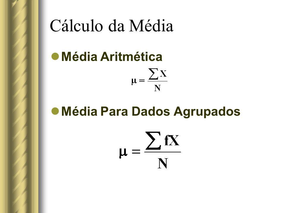 Cálculo da Média Média Aritmética Média Para Dados Agrupados