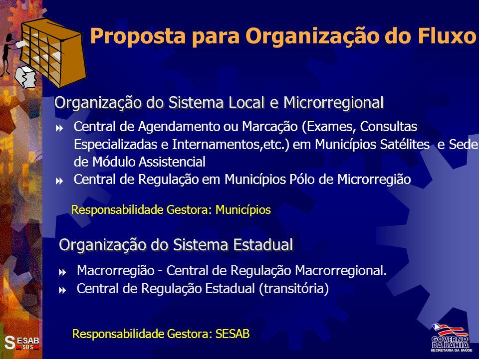 Proposta para Organização do Fluxo
