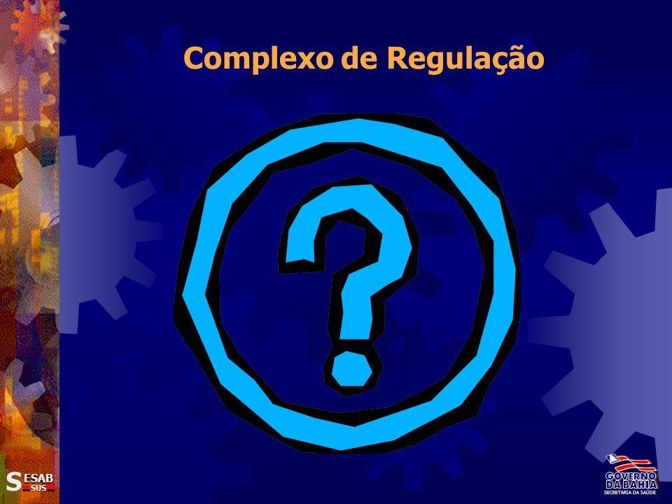 Complexo de Regulação SECRETARIA DA SAÚDE S ESAB SUS