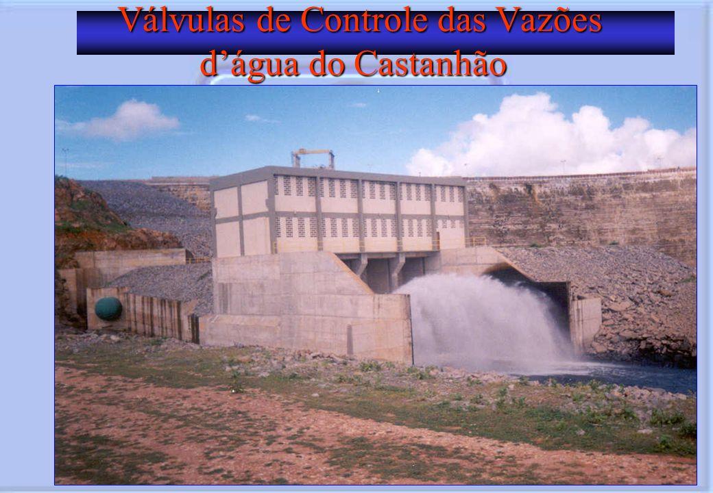 Válvulas de Controle das Vazões d'água do Castanhão